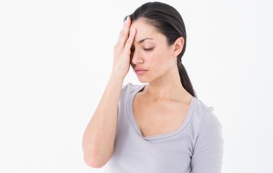스트레스 받는 여자
