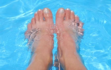 여자의 발