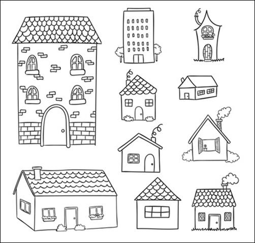 다양한 모양의 집
