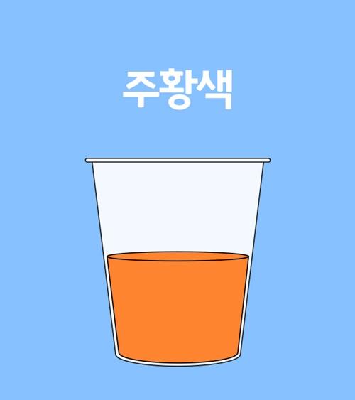 주황색 소변