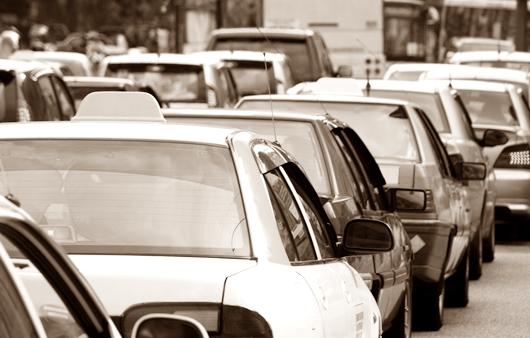 자동차가 많은 도로