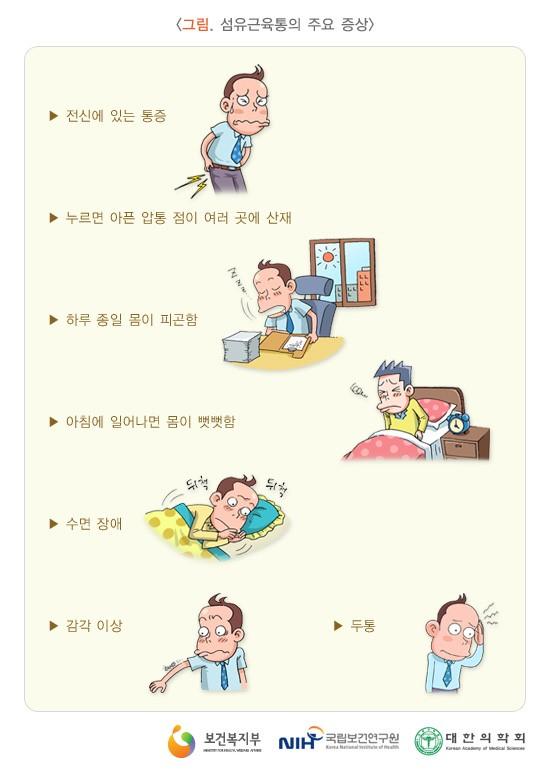 섬유근육통의 증상 (국가건강정보포털)