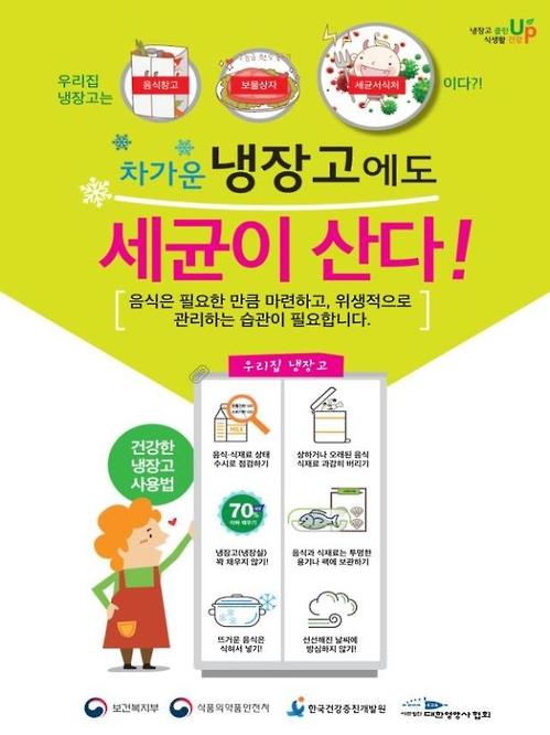 보건복지부 냉장고 위생관리 캠페인 포스터