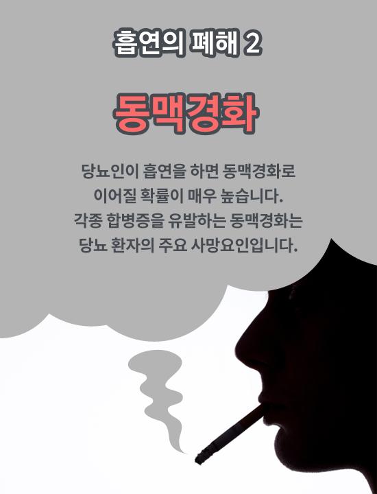 흡연이 당뇨병에 특히 치명적인 이유는?