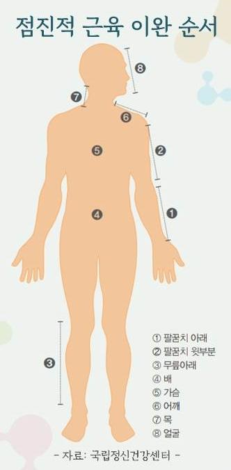 점진적 근육 이완 순서