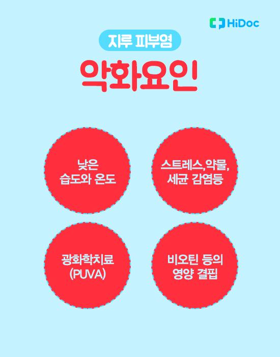 지루성피부염 원인, 증상, 치료