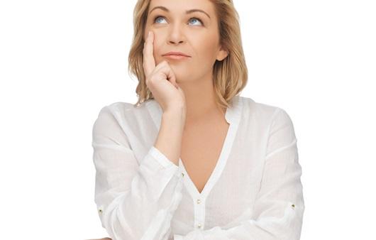 생각하는 여성