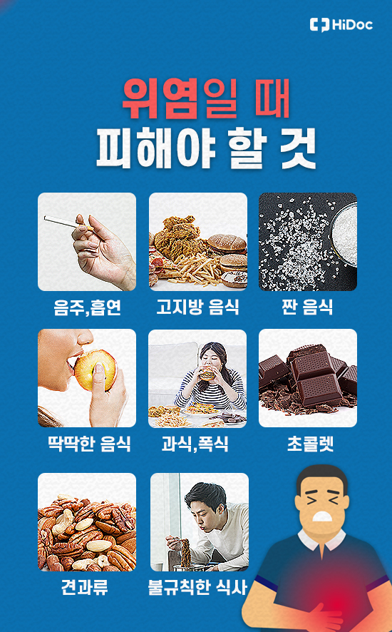 위염 증상, 원인과 치료법