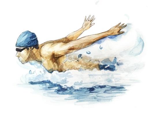 수영하는 남자
