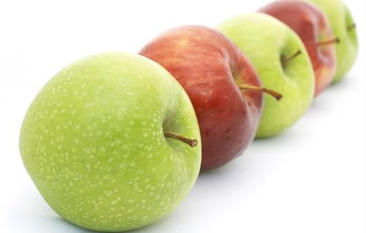 빨간 사과와 녹색 사과