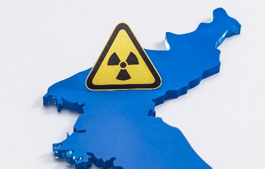 북한지도와 핵 표시
