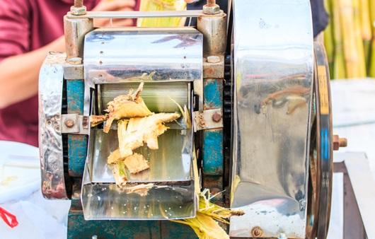 사탕수수 즙 짜내는 모습