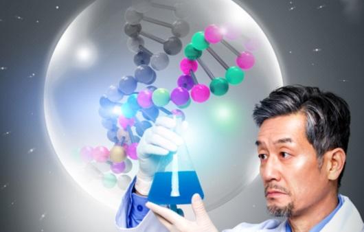 유전자 검사를 하는 남성