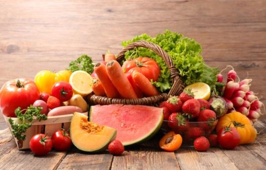 다양한 과일과 채소