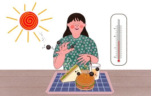 한낮은 벌써 여름, 식중독에 주의하세요