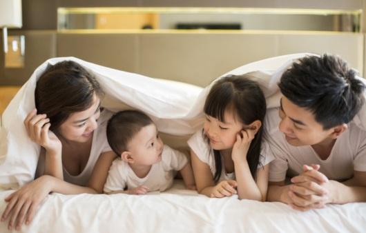 행복한 부모와 자녀