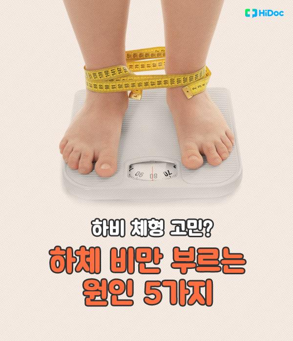 하체 비만 부르는 원인 5가지