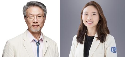△ 사진(좌측부터) = 서울성모병원 피부과 이준영 교수 및 한주희 임상강사