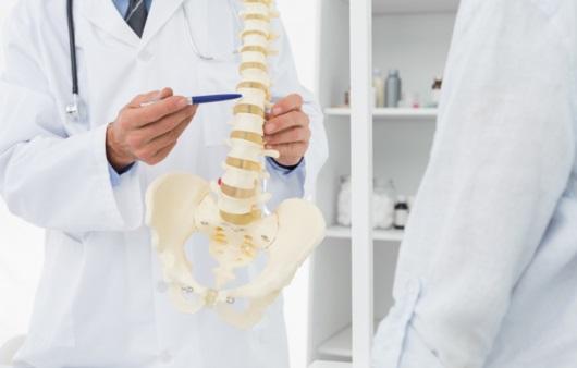 척추에 대해 설명하는 의료진